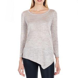 JOIE | Asymmetrical Metallic Sweater